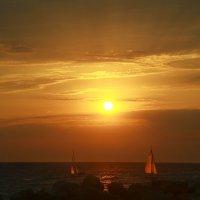 августовский закат на Черном море :: Наталья