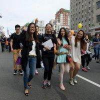 Группа иностранных студентов на праздновании Дня тигра :: Sofia Rakitskaia