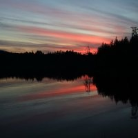 Карелия. Закат на озере. :: PANDA BLACK & WHITE