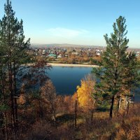 На горе в парке на берегу Иркута :: Александр Попов