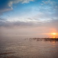 Туман над Волгой :: Николай Алехин