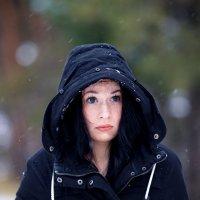 Замёрзшая модель.Снег идёт. :: Алексей Хаустов