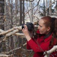 я фотографирую лес, подруга меня :: Наталья Литвинчук