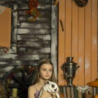 Девочка с зайчиком :: Дмитрий Русак