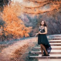 девушка и флейта :: Ярослава Бакуняева