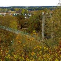 Пешеходный мостик через реку Ока. :: Борис Митрохин