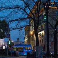 Синий троллейбус из прошлого века. Добрый троллейбус с душой человека. :: Ирина Данилова