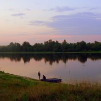 вечер на сплаве возле катамарана :: Александр Прокудин