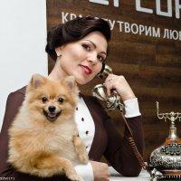 наталья и собачка :: Владимир Юминов
