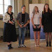 Победители конкурса для учеников со своими учителями. :: imants_leopolds žīgurs