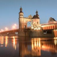 Вечерний мост на границе с Литвой :: Игорь Вишняков
