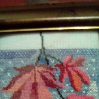 Листья на снегу. (Вышивка крестиком). :: Светлана Калмыкова