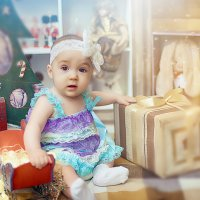 Новогодняя фотосессия в студии Аквамарин :: марина алексеева
