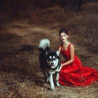 фото с собакой хаски :: Оля Грушевская