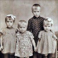 Родные и двоюродные. 1953 год :: Нина Корешкова
