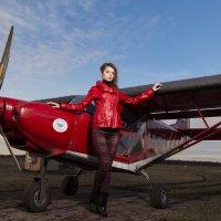 Небо, самолет, девушка.. :: Юлия Шабеева
