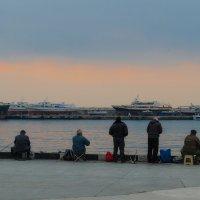 """""""Время, проведенное на рыбалке, в счет жизни не идет"""" :: Ирина Шарапова"""