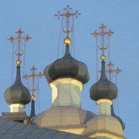 Купола Сампсониевского собора. Петербург. 18-й век. :: Маера Урусова