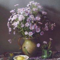Лиловые хризантемы :: Татьяна Карачкова