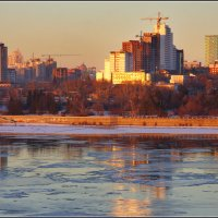 Город на Оби. Ноябрь-2015 :: Владимир Холодный