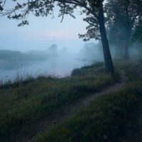 Правобережная в туман... :: Roman Lunin
