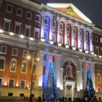 Две ёлки у входа к московскому мэру :: Дмитрий Никитин