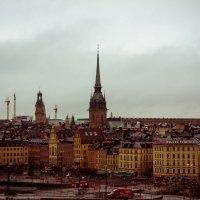 Вид на Старый Город со смотровой площадки.Стокгольм. :: Дина Нестерова