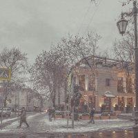 Ещё вчера осенний был денёк, сегодня снег кружится... :: Ирина Данилова