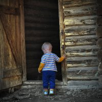 как много дел у бабушки в деревне :: Роман Романов