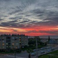 -вид на закат из моего окна- :: Анатолий Ларкин