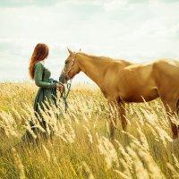 Мы пойдём с конём по полю вдвоём ... :: Анна Никитина