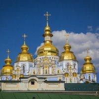 Взгляд через забор. Михайловский златоверхий. :: Андрей Нибылица