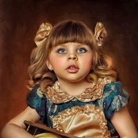 Little girl with the clock :: Fancy Art