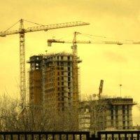 Долговязые краны над нашей Москвой :: Дмитрий Никитин