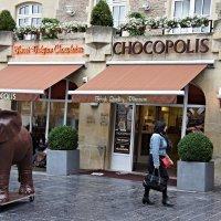 Слоник не шоколадный:)) зазывает гостей в Шокополис :: Елена Смолова