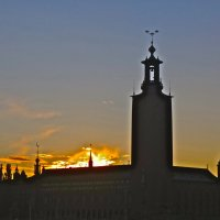 закат над Ратушей :: Елена