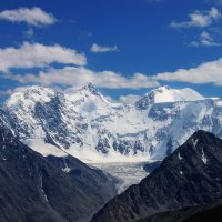 гора Белуха вид с перевала Кара тюрек :: Александр Скалозубов