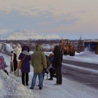 Фото сессия Деда Мороза в Заполярье :: Витас Бенета