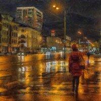 Прохладно, каплет дождь, а Москва в огнях– франтиха! :: Ирина Данилова
