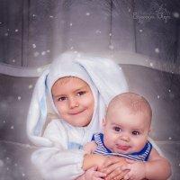Новогодние братишки - Зайчишки! :: Ольга Егорова
