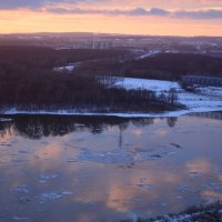 Закат на реке Белой :: Наталья