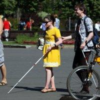 кто голый,кто на вело с телефоном,а кто слепой и с палочкой :: Олег Лукьянов
