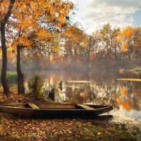 Осень на реке :: Cергей Дмитриев