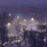 Ночной снегопад :: Максим Дорофеев