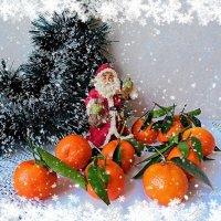 Дед Мороз и мандарины :: Nina Yudicheva