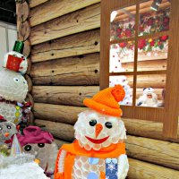 На выставке креативных снеговиков :: Нина Бутко