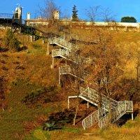 зимний этюд с лестницей :: Александр Корчемный