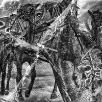 ускакала в поле молодая лошадь :: Алексей Карташев