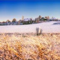 Зимний вечер в деревне... :: Александр Никитинский