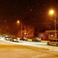 Снежная ночь в Шахтах :: Владимир Болдырев